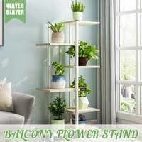Varanda sala de estar flor estande planta prateleiras interior moderno decoração piso de pé multi camada flor prateleira de armazenamento flor|Prateleiras de plantas|Móveis -
