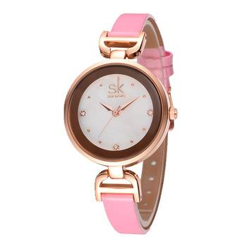 Women's Watches Top Brand SK Fashion Rose Gold Watches Diamond Watch Women Watches Small Leather Ladies Watch Clock reloj mujer image
