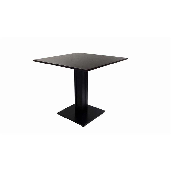 Table DART, Metal Base, Lacquered Wegué, 80x80 Cms *