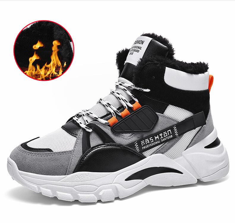 Winter Men's Boots Fashion Warm Boot Male Waterproof Shoes Chaussure Mans Casual Shoes For Men Boots Footwear Male Sneakers