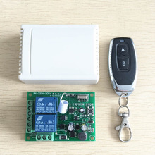 Universal 433 Mhz Wireless Remote Control Switch Relay 220V 2CH Receiver