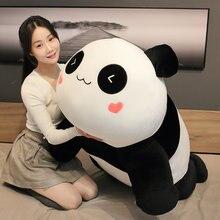 Hot30/60/85 cm bonito panda grande boneca brinquedo de pelúcia animais travesseiro crianças aniversário presentes de natal dos desenhos animados brinquedos travesseiro grande na cama
