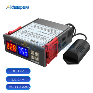 Image 1 - STC 3028 inteligentny wyświetlacz cyfrowy kontroler temperatury i wilgotności wyświetlacz termometr higrometr do lodówki przemysł domowy
