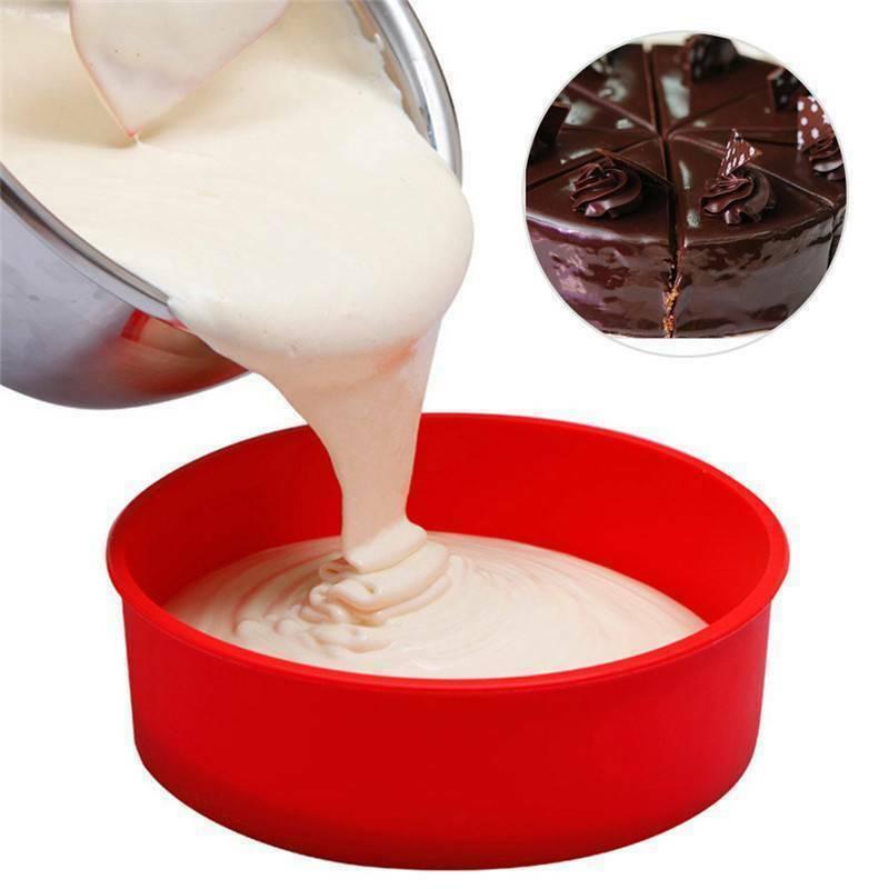 Silicone Cake Round Shape Mold Kitchen Bakeware DIY Desserts Baking Mold Mousse Cake Moulds Baking Pan Tools Random Color