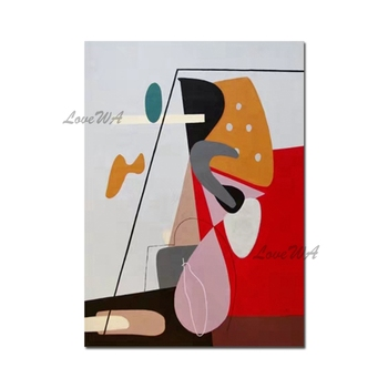 Hot Selling 100% Hand-painted Abstract Oil Painting Picasso Reproduction Canvas Wall Art Home Decor Pieces Unframed Artwork