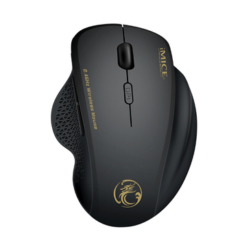IMICE G6 2.4GHz Wireles USB Mice 1600DPI Ergonomic Design 6 Buttons Optical Adjustable Optical Gaming Mouse for Win 7/8/10 PC