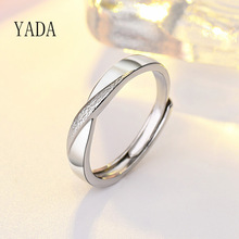 YADA Fashion Trendy Love X Shapae Rings for Men&women Stainless Steel Ring Engagement Wedding Jewelry Silver color Ring RG200036 2020 classic stainless steel rings for men women silver color simple casual ring womens man fashion jewelry new punk rings