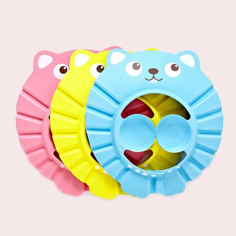 Регулируемая Шапочка для шампуня, прочная детская шапочка для ванны, защита для душа, защита для глаз, защита от брызг, защита для мытья воло...