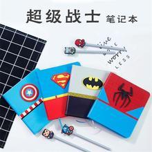 TOPSTHINK Anime cartoon notebook set gift super hero hand book Creative batman spiderman diary drawing student pads gift