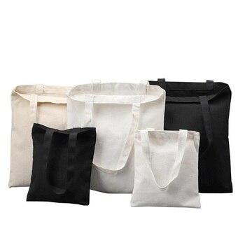 Fashion Reusable Shopping Bag Large Folding Tote Unisex Blank DIY Original Design Eco Foldable Cotton Bags Canvas Handbag - discount item  30% OFF Special Purpose Bags