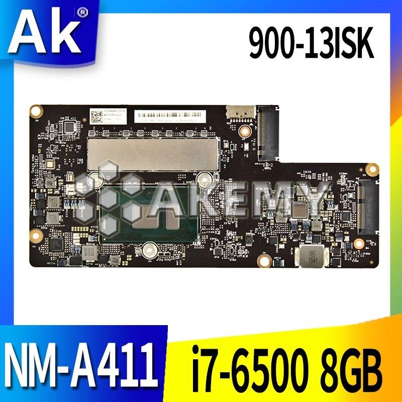 Original For Lenovo YOGA 900-13ISK Laptop Motherboard YOGA 900-13ISK I7-6500U 8GB BYG40 NM-A411 REV 1.0 Tested Good Free