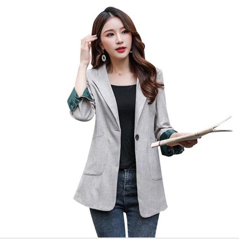 Brieuces women spring autumn One-button suit jacket blazer female long sleeve elegant jacket ladies high street blazer suits