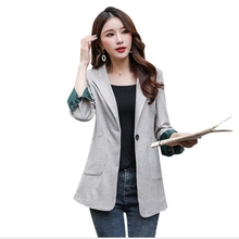 Brieuces women spring autumn One-button suit jacket blazer female long sleeve elegant jacket ladies high street blazer suits