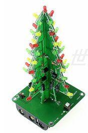 Image 3 - 10 takım üç boyutlu 3D yılbaşı ağacı LED DIY kiti kırmızı/yeşil/sarı LED flaş devre kiti elektronik eğlence paketi Diy kiti