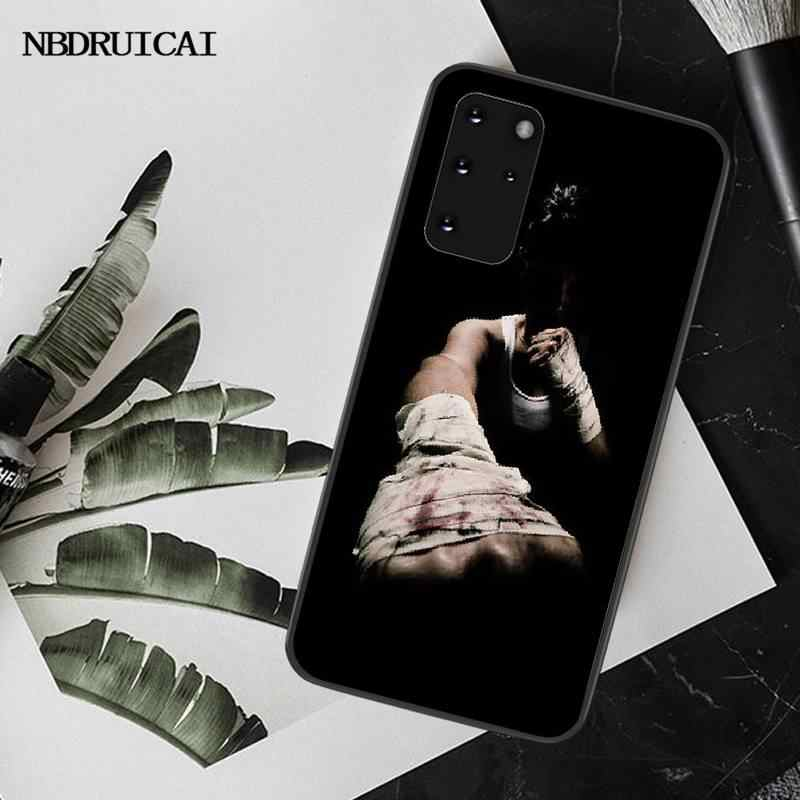 NBDRUICAI الملاكمة قفازات بولي يوريثان لينة سيليكون قضية الهاتف غطاء لسامسونج S20 زائد الترا S6 S7 حافة S8 S9 زائد S10 5G