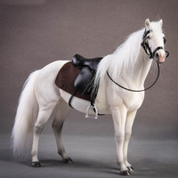 20cm 1/12 Scale Germany Hannover Warm Blooded Model Horse Decoration Toy For Kid White/Dark Brown/Grey White/Light Brown/Black