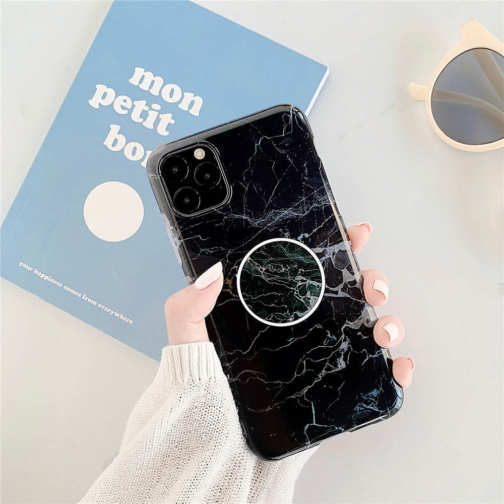 Luxury Marble Stand Phone Back Cover Shell For iPhone 11 Pro X XR XS Max 7 8 6 6S 16