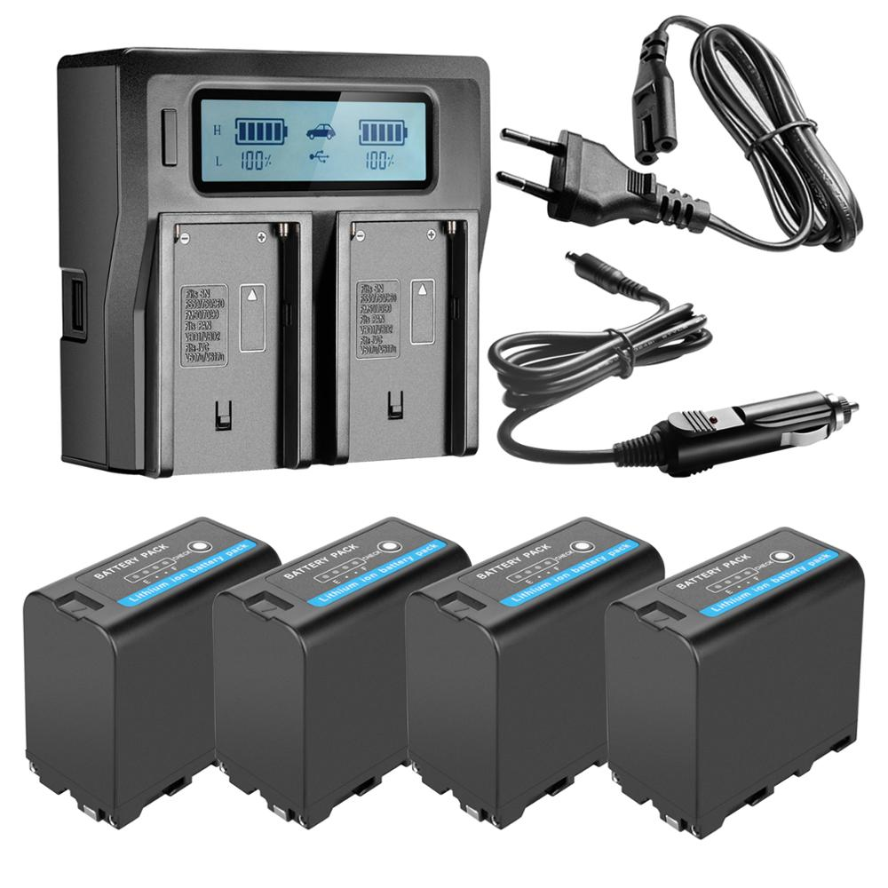 LCD Quick-Charger F970-Batteries SONY NP-F960 7800mah with Led-Power-Indicator for