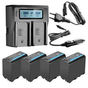 LCD Led-Power-Indicator Quick-Charger F970-Batteries 7800mah SONY NP-F960 HVR-HD1000E