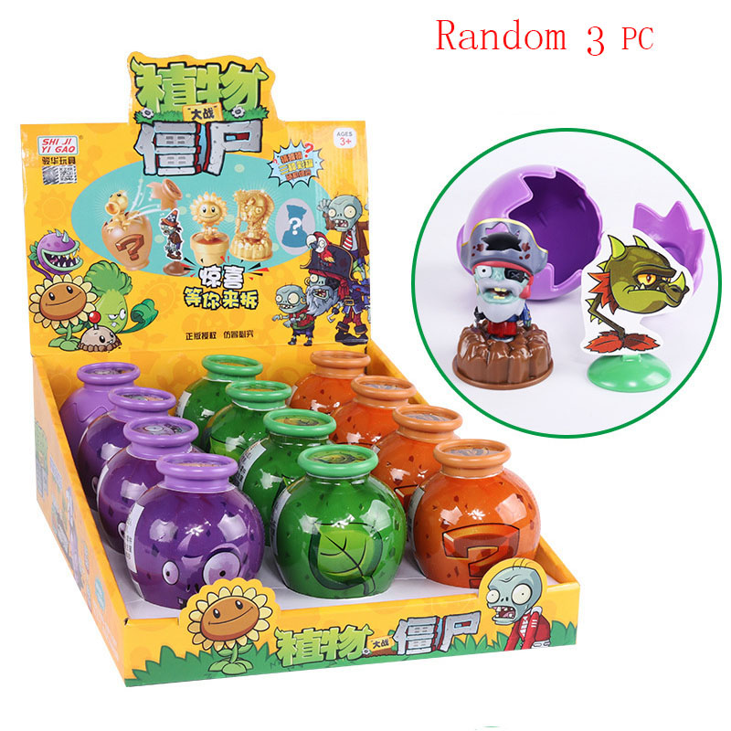 Game Plants Vs Zombies Egg Toys Abs Pvz Peashooter Building Blocks Diy Puzzle Toys For Children New Year's Gift Drop Shopping image