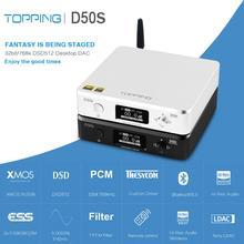 TOPPING decodificador de Audio D50S Hifi con USB, DAC, ES9038Q2M, XMOS, XU208, Bluetooth, entrada óptica caaxial DSD, 32Bit, 768Khz