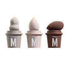 Blender Beauty Makeup-Sponge-Set Cosmetics Foundation Puff-Cream Powder 3pcs for Cup-Shape