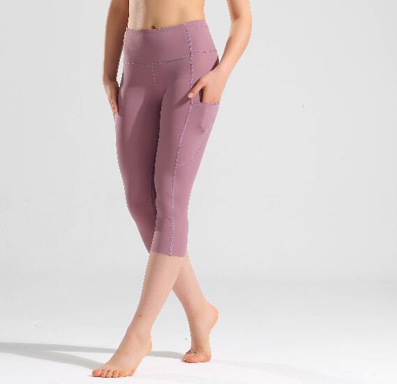 2020 Sports Capris Gym Leggings Super Quality Stretch Fabric camo black wine red capris leggings 11