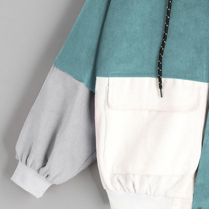 H3e0cc29b5c8146f6a7a9bcacf75f6644Z Outerwear & Coats Jackets Long Sleeve Corduroy Patchwork Oversize Zipper Jacket Windbreaker coats and jackets women 2018JUL25