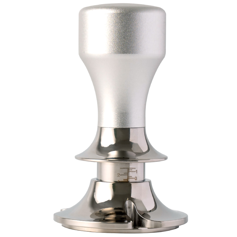 Coffee Tamper 58mm Espresso Tools Press Level Tamper Unbiased Adjustable Depth with Anti Pressure Deviation Stainless
