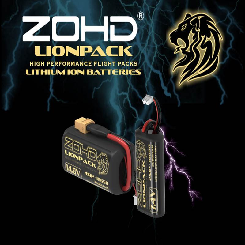 Hot Sale 2 PCS ZOHD LIONPACK 7.4V 2S1P 3500mAh 18650 Li-ion Lipo Battery for RC Airplane Car Boat Tank RC Parts Accessories image