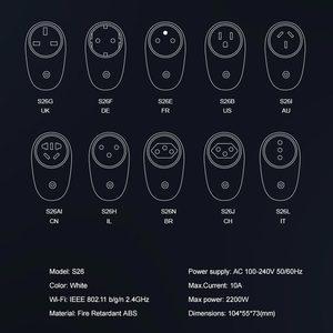 Image 5 - SONOFF S26 WiFi Power Socket US/UK/CN/AU/EU/IL/CH/IT/BR Smart Sockets Wireless Switch APP Remote Control Plug For Smart Home