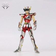 Comic club instock grandes brinquedos ex bronze saint capacete pegasus seiya v1 metal armadura mito pano figura de ação