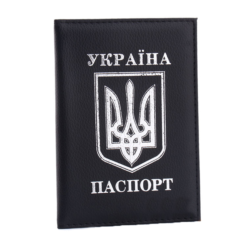 Ukraine Women Passport Cover Elegant Leather Travel Passport Holder Lady Men Protection Case For Girls Boys