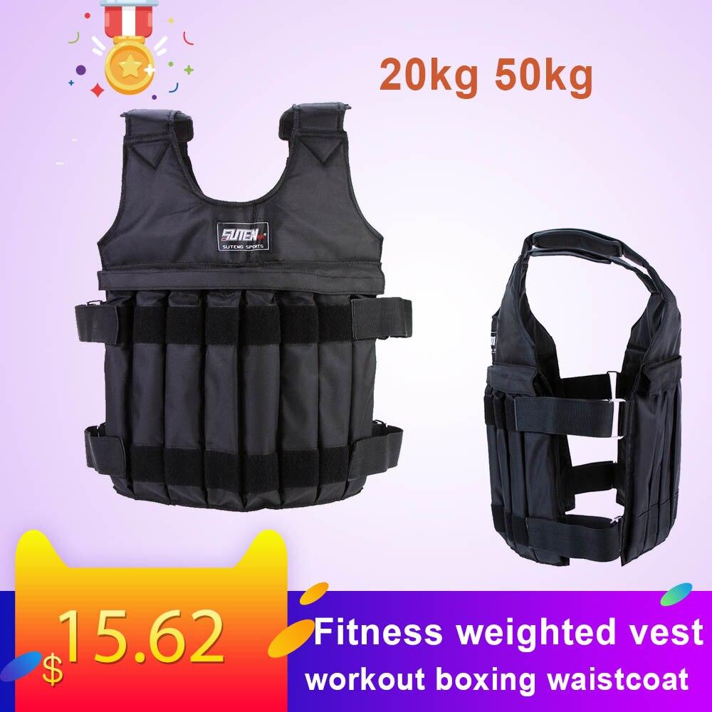 20kg 50kg ajustável aptidão ponderada colete treino de fitness ginásio ginásio treino treino equipamentos fitness
