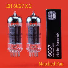 2шт Россия электро гармоники EH 6CG7 вакуумная подходящая пара для трубы аксессуары Repalce Psvane Mullard JJ shuguang 6CG7