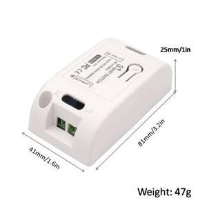 Image 5 - Interruptor sem fio controlador da lâmpada ac 220v 10a 2200w 1ch 433 mhz rf relé de controle remoto e transmissor para iluminação & porta sistema