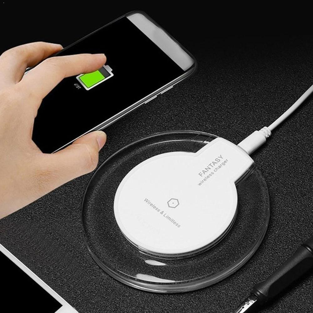 Galleria fotografica Wireless Charger For iPhone XS Max XR Phone LED USB Charging Galaxy Fast S9 Samsung S8 For IPhone Plus Xiaomi Wireless Adap O7U4