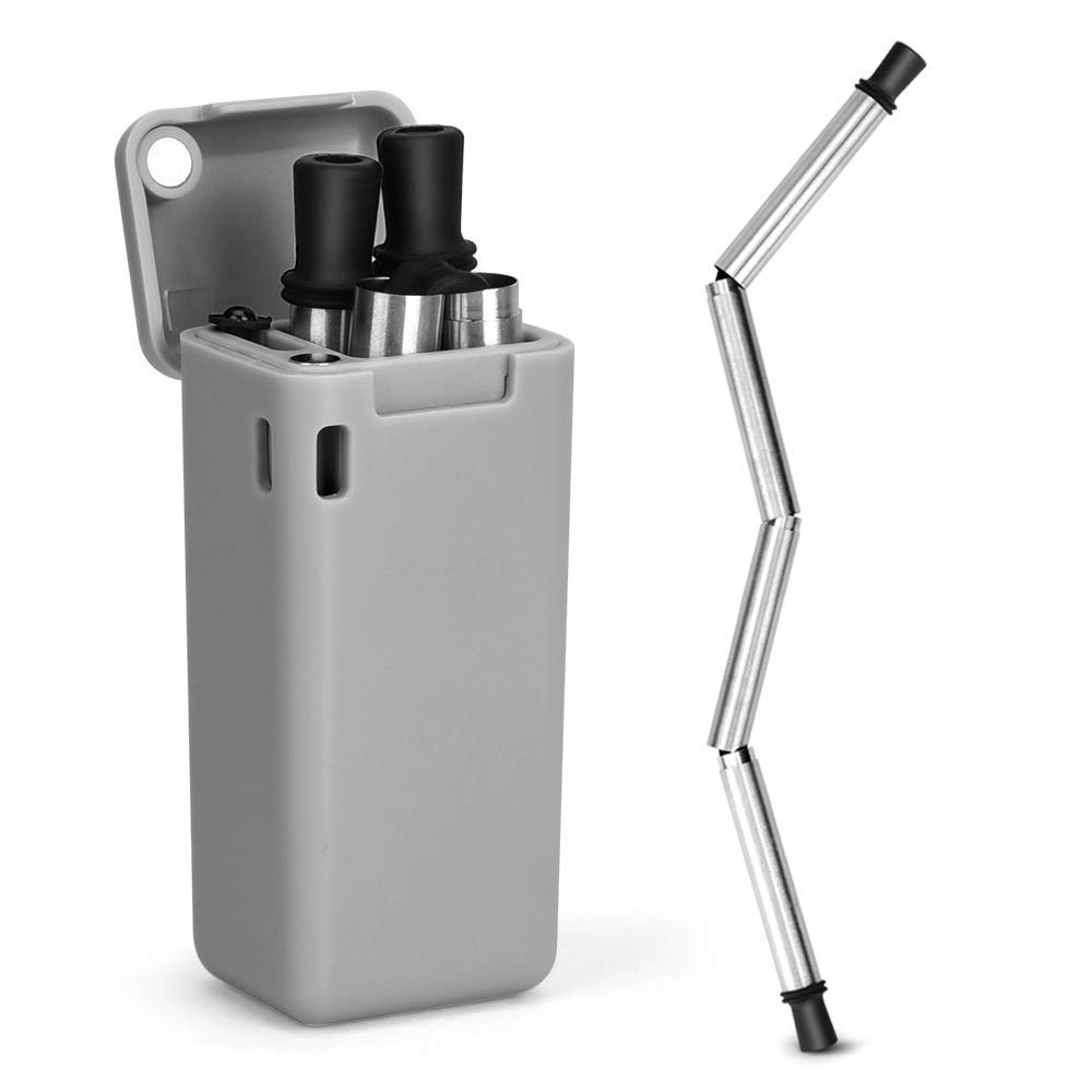 Foldable Straw Travel Portable Reusable Folding Straw Resistant Environmental Tableware Creative Foldable Outdoor Straw 4