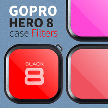 цена на Diving Lens Filter for GoPro Hero 8 Polarizer Red Purple Lens Filter for GoPro Hero 8 Action Camera Lens Filter Accessories