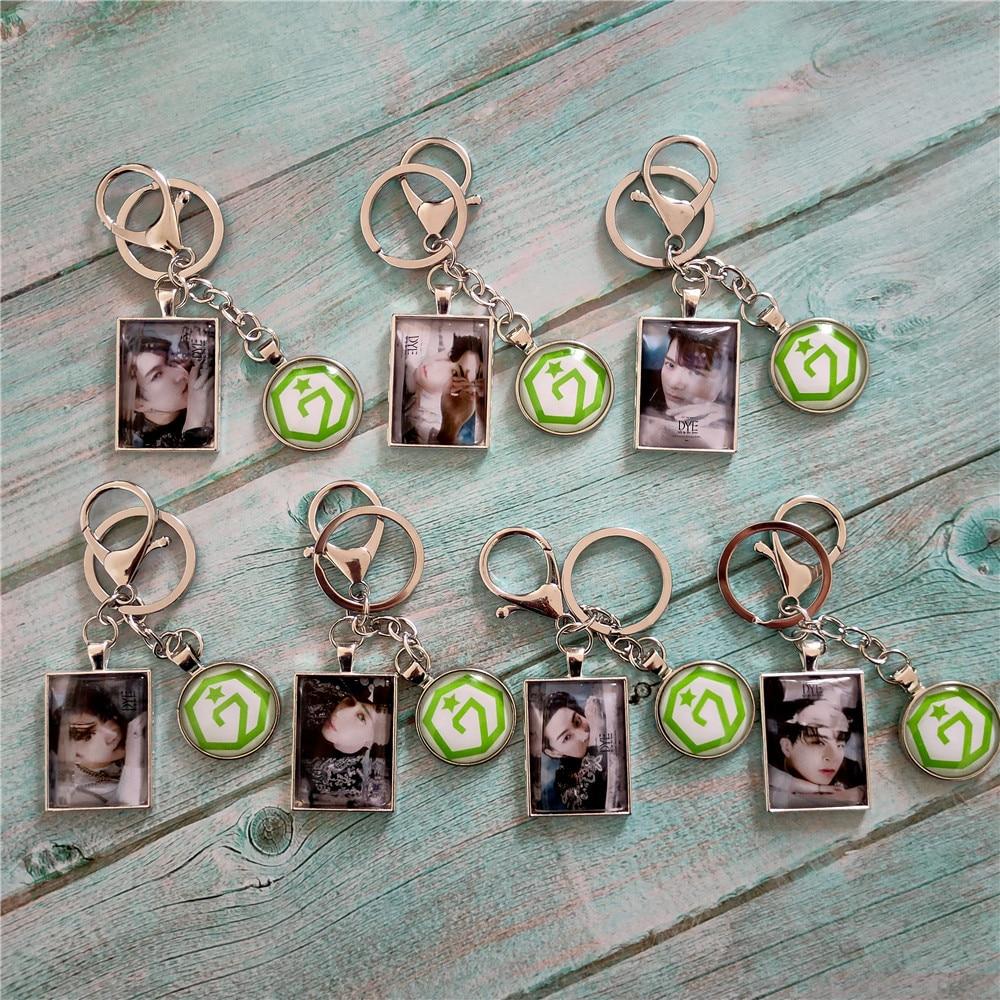 Kpop GOT7 Metal Keychain Lanyard HD GOT7 Album Photo Pendant High Quality Kpop Key Ring Chain Hot Sale Wholesale New Arrivals