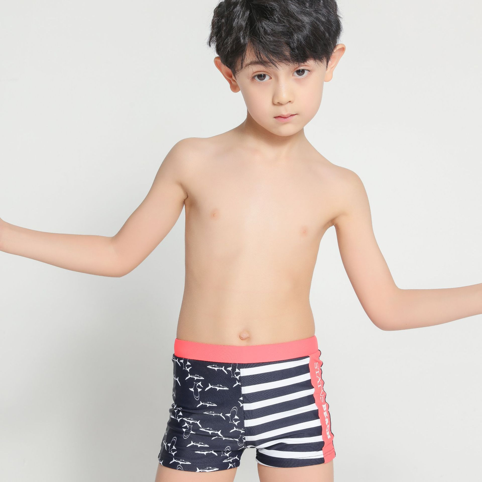 BOY'S Swimming Trunks A Generation Of Fat Big Kid Boxer Swimming Trunks Bubble Hot Spring Swimming Trunks Swimsuit Factory
