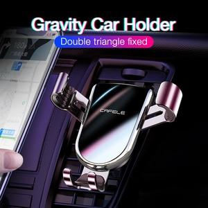 Image 2 - Cafele 自動ロック重力自動車電話ホルダー車でエアベントマウント電話ホルダー用スタンド 360 回転金属ユニバーサルスタンド
