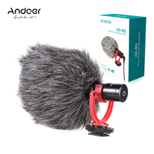 Andoer AD M2 Microphone Metal Video Mic 3.5mm Plug for Huawei Smartphone for Canon Nikon Sony DSLR Camera Consumer Camcorder