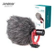 Внешний микрофон Andoer, металлический видеомикрофон с разъемом 3,5 мм для смартфонов Huawei, для цифровых зеркальных камер Canon, Nikon, Sony, бытовая видеокамера