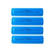 4 pièces Pkcell IFR14500 lifepo batterie 3.2v 600MAH LiFepo4 AA Lithium ion Batteries rechargeables dessus plat pour lampe de poche rasoir