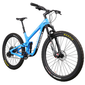 Image 1 - ICAN 인기있는 27.5er 플러스 MTB 자전거 전체 서스펜션 150mm 여행 enduro 부스트 산악 자전거 110*15/148*12mm 차축