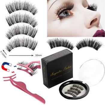 2 pairs of 4 handmade magnet eyelashes natural magnetic eyelashes mink eyelashes eyelash tools natural eyelashes,eyelash makeup