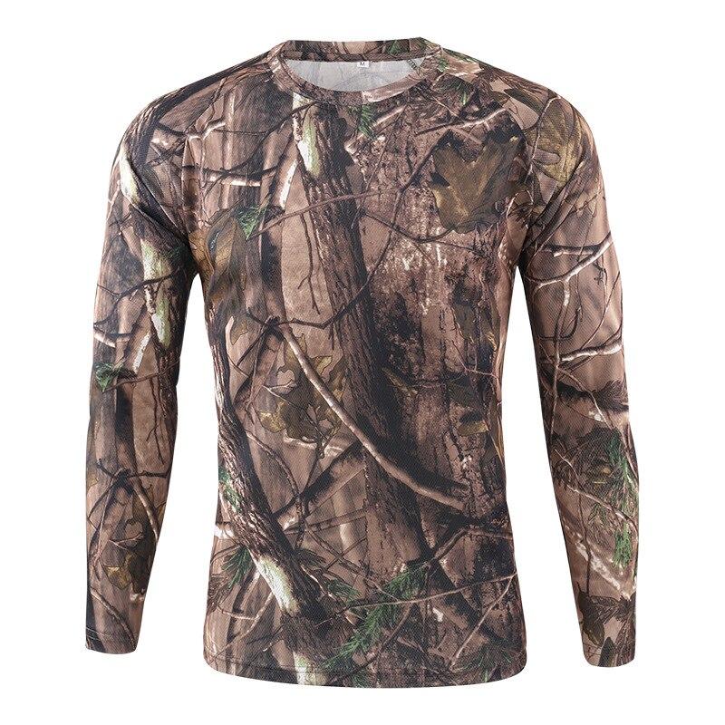 Mannen Quick Dry Tactische Camouflage T shirt Ademend Casual O hals Met Lange Mouwen Militaire Overhemd Combat Camo Leger T Shirts S 3XL - 3