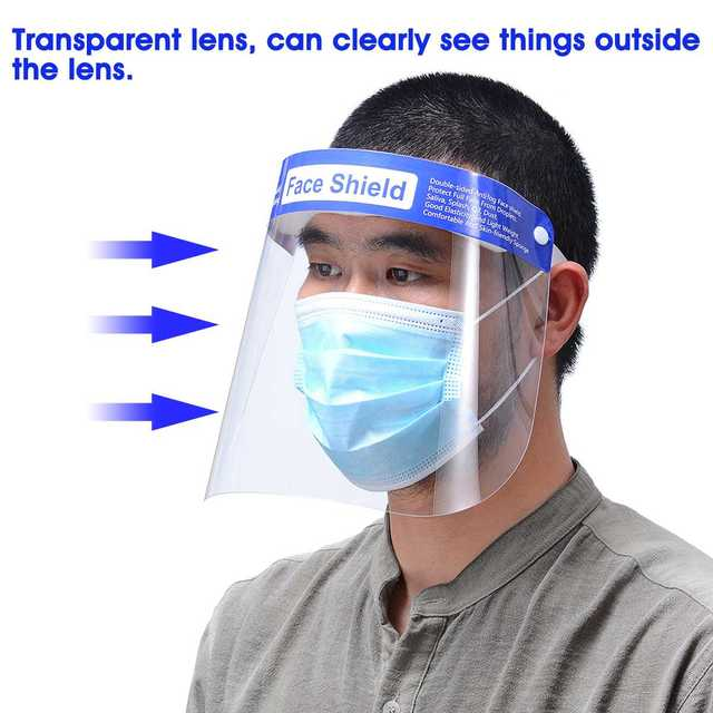 5/10/16/20x Safety Full Face Mask Helmet Clear Face Shield Cover Transparent Lens Film Protector Anti-fog anti-droplets 4