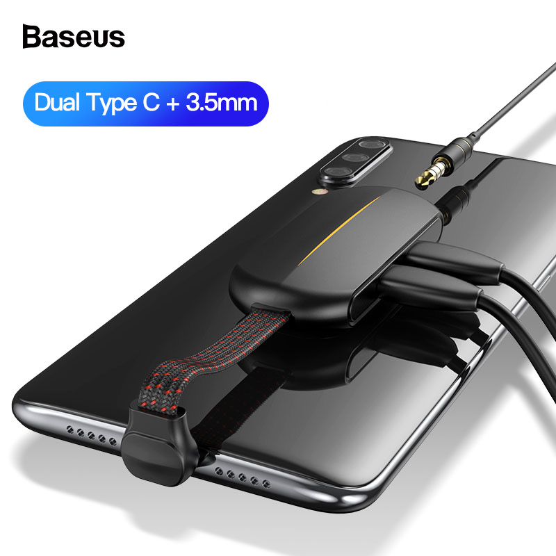 Baseus 3in1 OTG Adapter For IPhone 11 Pro Max X 8 7 Plus 18W Fast Charging USB Type C Aux OTG Cable For Samsung Note 10 9 Huawei